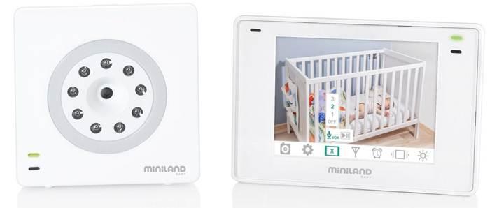 Miniland Cyfrowa niania elektroniczna z wielofunkcyjnym ekranem 3,5 plus