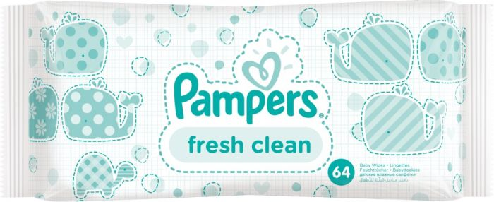 Chusteczki Pampers fRESH Clean 64 sztuki