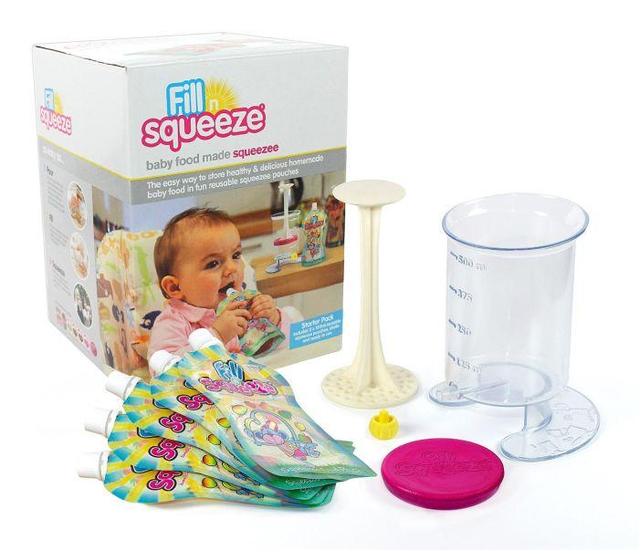 Fill'n Squeeze zestaw z saszetkami do karmienia dziecka