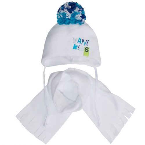 AJS Komplet zimowy czapka + szalik happy kids