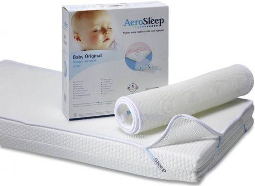 Aerosleep baby podkład higieniczny protect 70x150 ze strukturą plasta miodu - antybakteryjny, zapobiegający poceniu