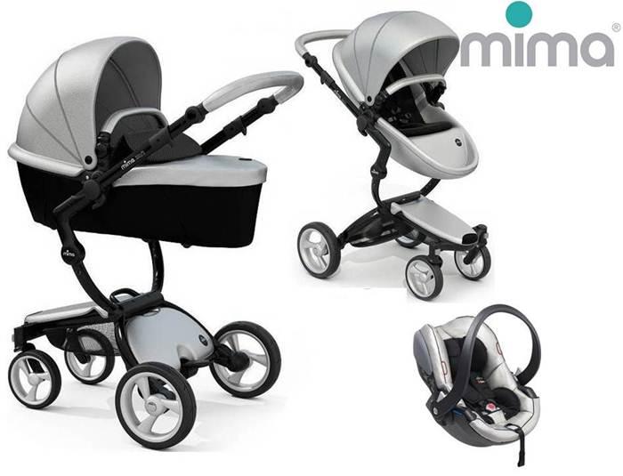 Wózek głęboko spacerowy Mima Xari 3w1: gondola +siedzisko+ rama+ zestaw kolorystyczny+bezpieczny fotelik BeSafe Izi Go Modular 0-13 kg+Adaptery