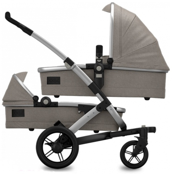 Joolz 3w1 dla bliźniat Geo twin kolekcja Earth stelaż 2 x gondola 2x siedzisko spacerówki + 2x fotelik 0-3 Besafe Modular