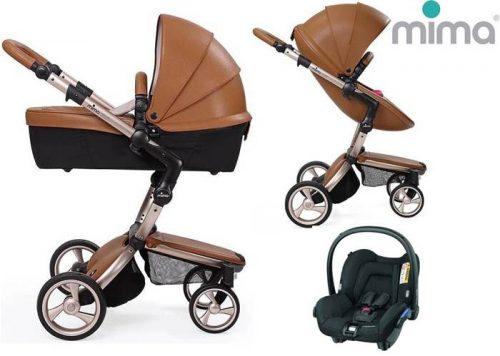 Wózek głęboko spacerowy Mima Xari 3w1: gondola +siedzisko+ rama+ zestaw kolorystyczny+bezpieczny fotelik do wyboru 0-13 kg+Adaptery