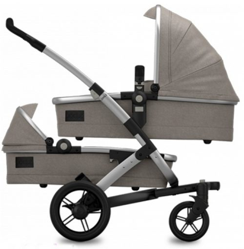 Joolz wózek 3w1 dla bliźniąt geo twin  kolekcja Studnio Gris z fotelikami 0-13 Modular Joolz