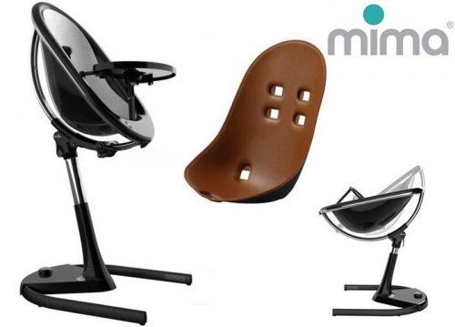 Krzesełko Mima Moon od urodzenia do 45 kg - stelaż czarny + wkładka dla noworodka w 6 kolorach do wyboru