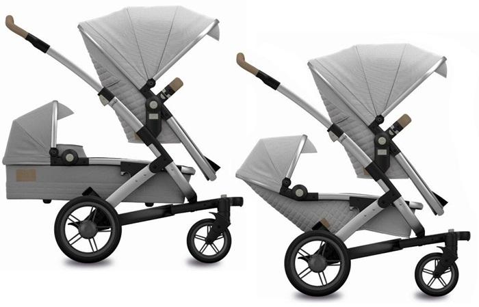 3w1 Joolz wózek Geo Duo Quadro dla rodzieństwa gondola 2 x spacerówka + wybrany fotelik ADAC 0-13 kg