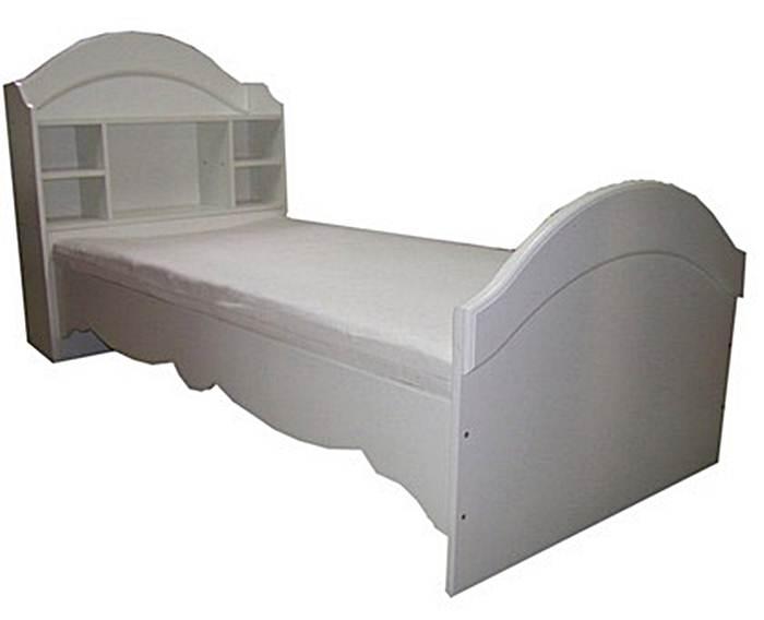 Łóżko Clasic z regałem wolnostojącym/dołączanym do łóżka na drobiazgi Twojego dziecka 180x90 cm, Baby Best