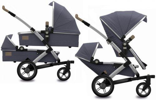 Joolz wózek 3w1 bliźniaczy Geo Twin kolkecja Quadro rama 2 x gondola 2x spacerówka + 2 x fotelik Modular Joolz 0-13 kg