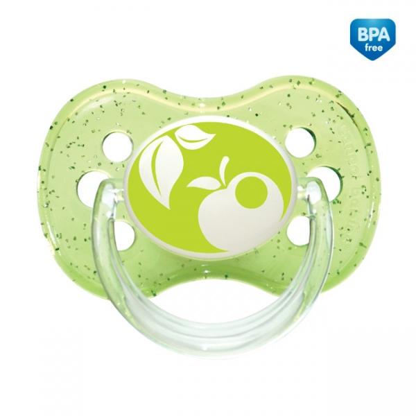 Kauczukowy smoczek okrągły do uspokajania niemowląt 0-6m Canpol Babies