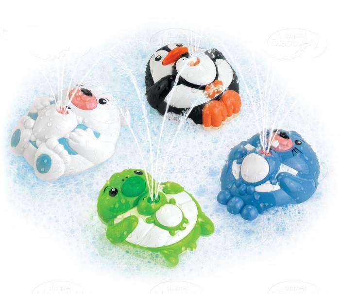 Tryskające zwierzątka do kąpieli Dumel - zabawki kąpielowe dla dzieci 12m+