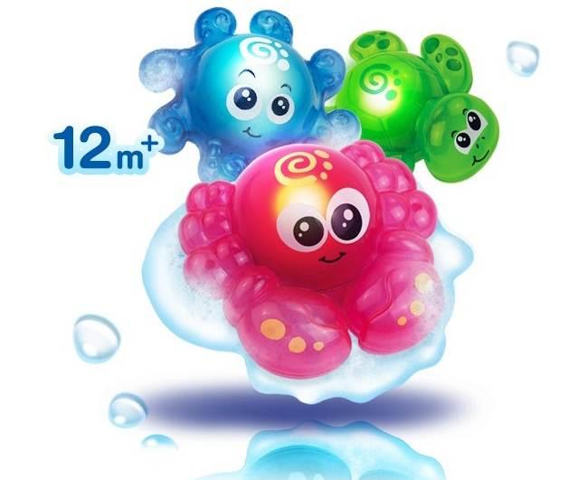 Świecące zwierzątka do kąpieli Dumel - zabawki do wanny 12m+