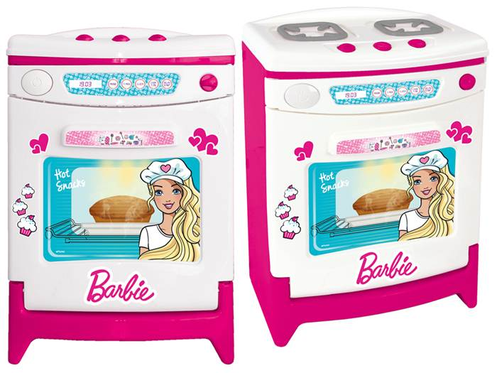 Duża kuchnia z otwieranym piekarnikiem oraz płytą z palnikami - Barbie, Wader