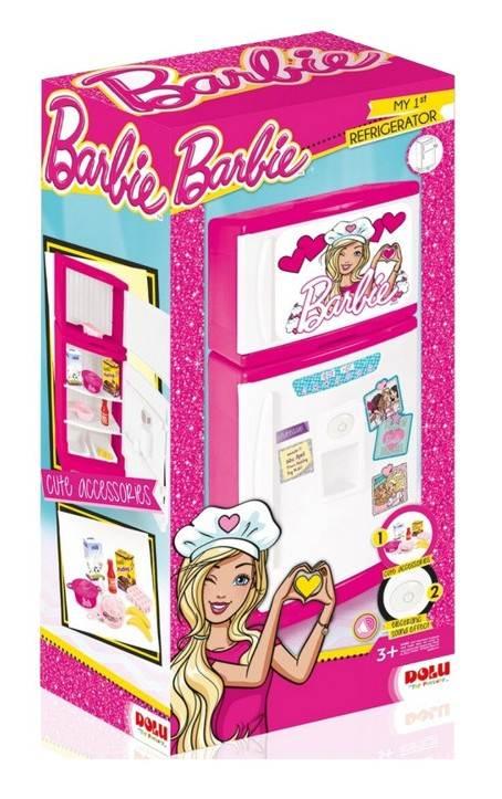 Duża lodówko-zamrażarka z otwieranymi drzwiami i dźwiękiem Barbie, Wader