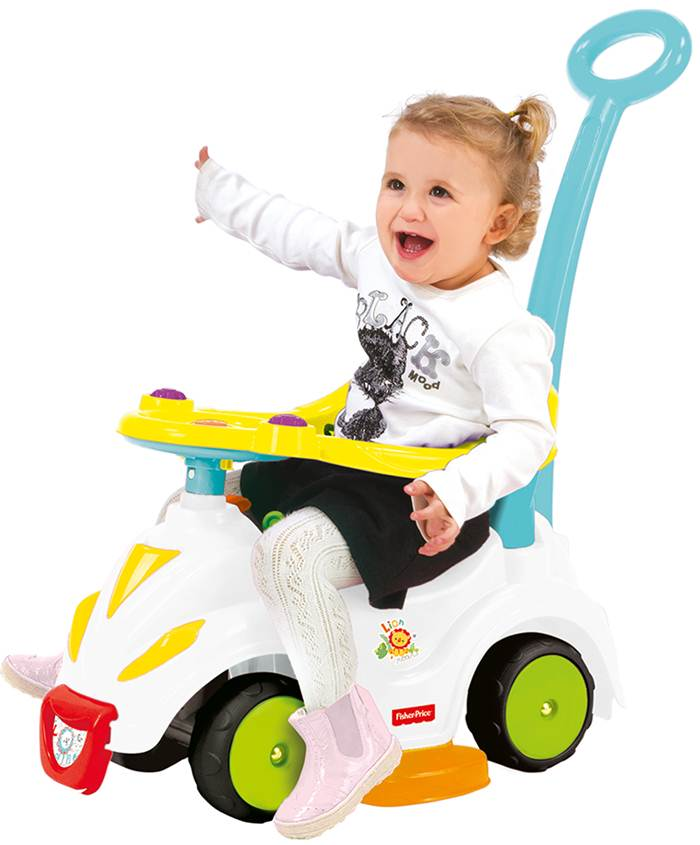Wader Fisher Price jeździk 4w1 - pchacz, odpychacz, jeździdełko - możliwość prowadzenia przez rodzica