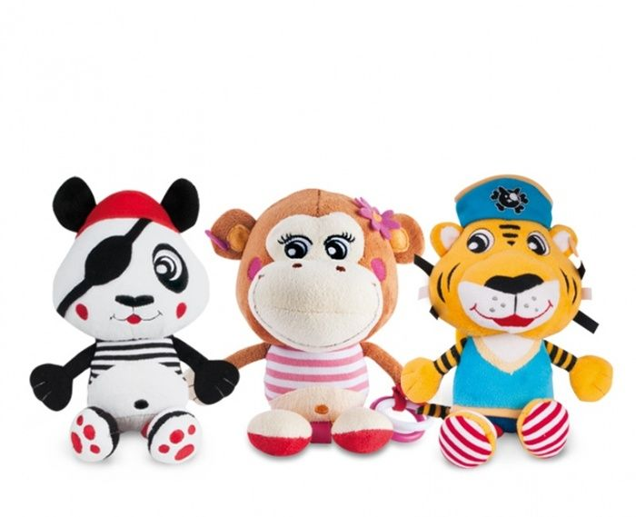 """Pluszowa zabawka z klipsem z kolekcji """"Piraci"""" Canpol Babies - 2 modele"""
