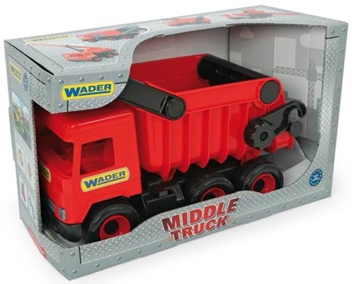 Middle Truck wywrotka czerwona w kartonie, Wader
