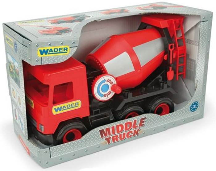 Middle truck – betoniarka czerwona - Wader