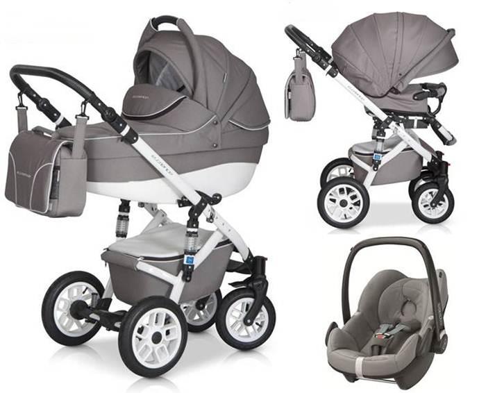 3w1 Wózek głęboko spacerowy Essence z fotelikiem samochodowym 0-13 kg Maxi Cosi, Cybex, Recaro, Kiddy, Concord, Besafe- Expander