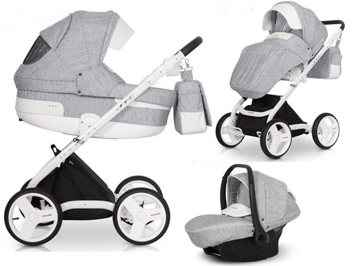 3w1 Głęboko spacerowy wózek dziecięcy Expander Drift z fotelikiem 0-13 Kite z kołami do jazdy na wprost