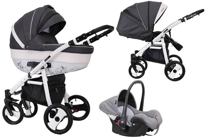 Wózek 3w1 głęboko spacerowy Savona Decor Coletto z fotelikiem dla niemowląt 0-13 kg z możliwością zamontowania na bazie Isofix, Coletto