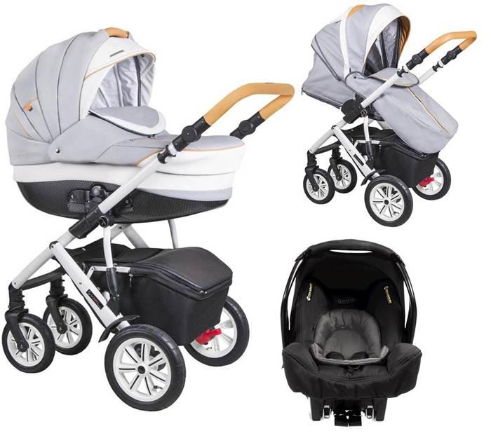 3w1 Wózek głęboko spacerowy Verona Eco Coletto + fotelik samochodowy do wyboru z ADAC