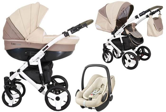 Wózek 3w1 głęboko spacerowy Florino Carbon Eco Coletto z bezpiecznym fotelikiem 0-13kg z testami do wyboru