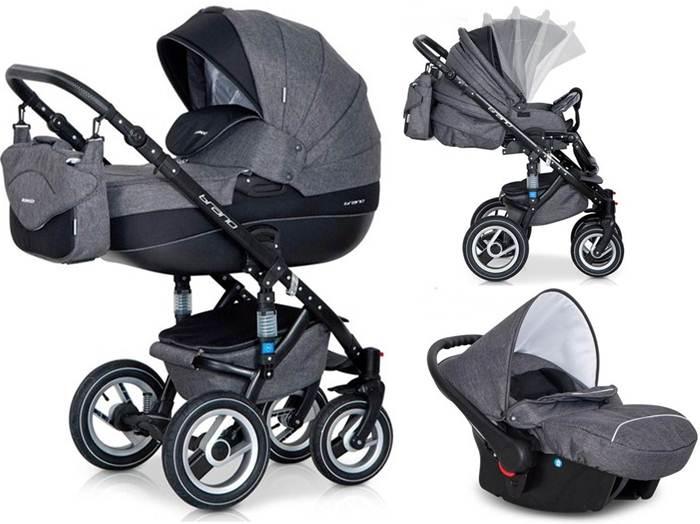 Głęboko spacerowy wózek dziecięcy 3w1 Riko Brano z fotelikiem 0-10 kg Carlo
