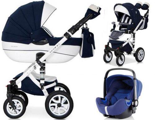 Głęboko spacerowy wózek dziecięcy 3w1 Riko Brano Ecco z bezpiecznym fotelikiem samochodowym 0-13 kg