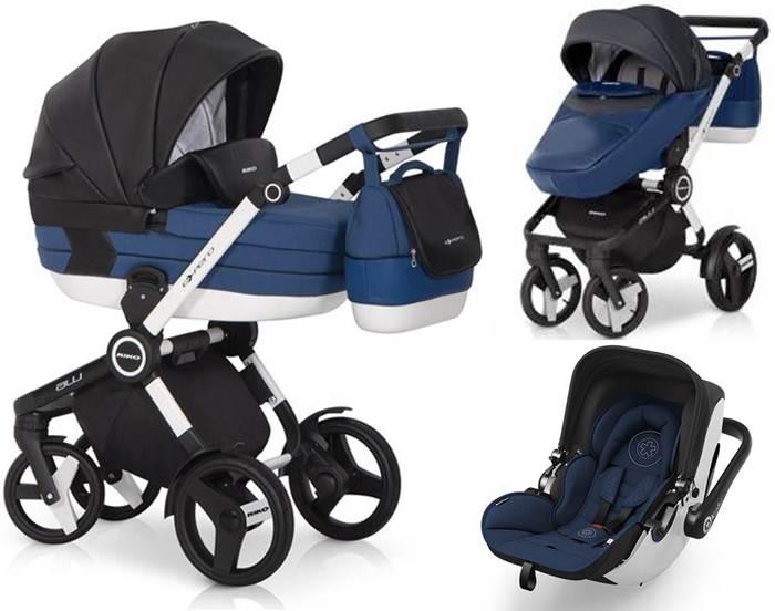 Nowoczesny wózek głęboko spacerowy Expero Riko – aluminium 3w1 z bezpiecznym fotelikiem samochodowym 0-13 kg do wyboru