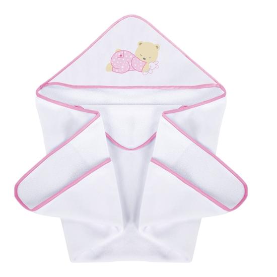 Okrycie kąpielowe 100/100 cm Słodkie sny różowe iPlus Baby