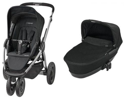 Głęboko spacerowy trzykołowy wózek Maxi Cosi Mura 3 Plus z gondolą składaną Foldable