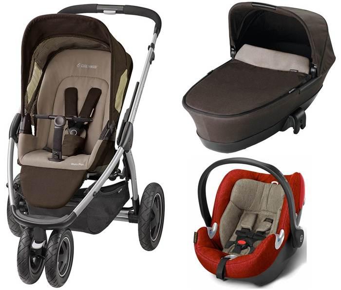Wózek Maxi Cosi Mura 3 Plus 3w1 + składana gondola Foldable + fotelik 0-13 kg