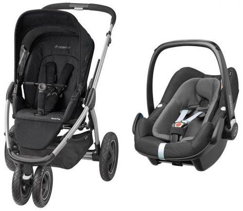Wózek spacerowy trójkołowy Mura 3 Plus Maxi Cosi + fotelik samochodowy 0-13 kg do wyboru