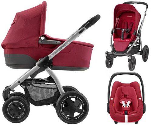 Wózek głęboko spacerowy Mura 4 Plus firmy Maxi Cosi z klasyczną gondolą i fotelikiem samochodowym do wyboru