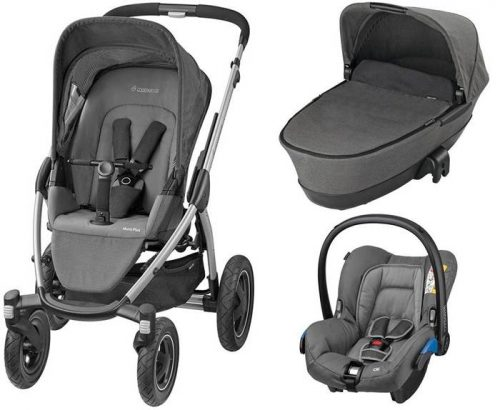 3w1 Wózek głęboko spacerowy Mura 4 Plus firmy Maxi Cosi z gondolą skladaną Foldable i fotelikiem samochodowym z testami ADAC