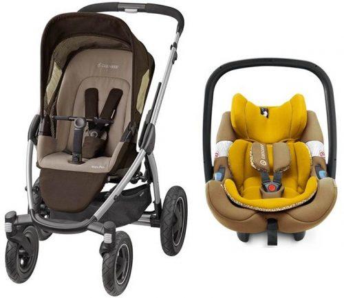 Wózek spacerowy czterokołowy Mura 4 Plus Maxi Cosi + Fotelik samochodowy 0-13 kg