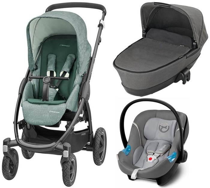 3w1 Wózek głęboko - spacerowy Maxi Cosi Stella z gondolą składaną Foldable + fotelik samochodowy z testami ADAC 0-13 kg
