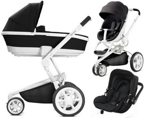 3w1 nowoczesny trójkołowy wózek głęboko spacerowy Moodd, firmy Quinny z fotelikiem 0-13 kg do wyboru