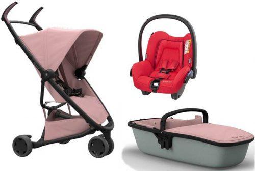 Wózek Zapp Xpress 3w1 lekki, Quinny spacerówka + gondola z fotelikiem samochodowym do wyboru