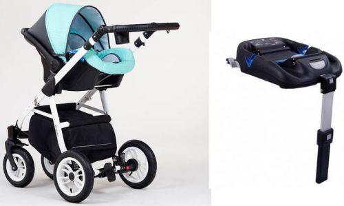 Fotelik samochodowy Kite do wózków Paradise 0-13 kg z isofixem bazą montowaną na pas lub isofix
