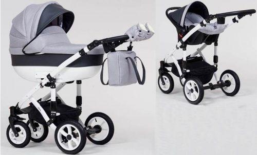 Wózek dziecięcy głęboki + fotelik Carlo 0-10 kg Melody, Paradise Baby