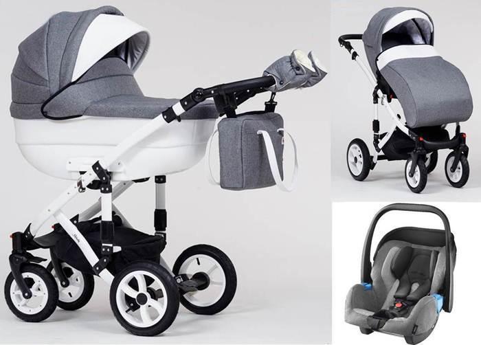 Wózek dziecięcy głęboko-spacerowy Melody Paradise Baby + fotelik z testami ADAC 0-13 kg
