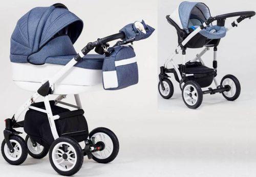 Wózek dziecięcy głęboki + fotelik Carlo 0-10 kg Magnetico, Paradise Baby
