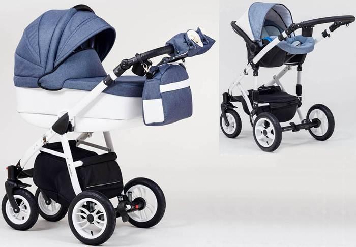 Wózek dziecięcy głęboki + fotelik Kite 0-13 kg Magnetico, Paradise Baby