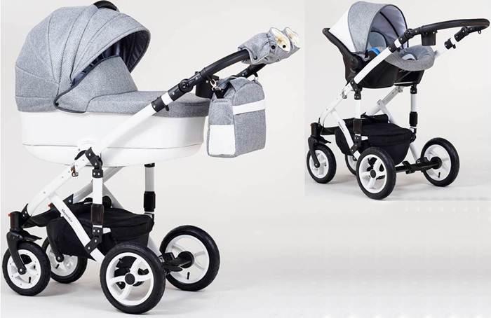 Wózek dziecięcy głęboki Magnetico Paradise Baby+ fotelik Kite 0-13 kg + baza isofix