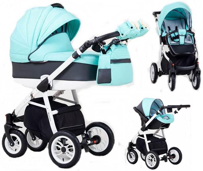 Wózek dziecięcy 3w1  głęboko-spacerowy + fotelik Carlo 0-10 kg Magnetico, Paradise Baby