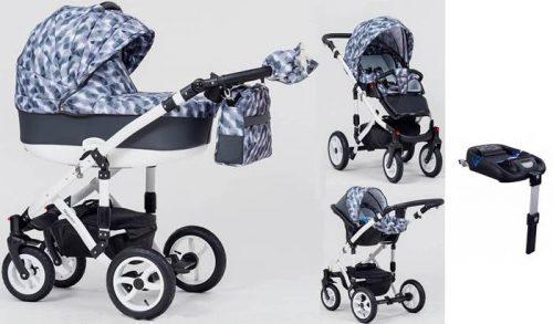Wózek dzieciecy 4w1 Magnetico głęboko-spacerowy + fotelik Kite 0-13 + baza isofix, Paradise Baby