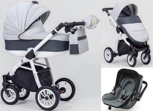 Wózek dziecięcy 3w1 głęboko spacerowy Magnetico, Paradise Baby + fotelik z testami ADAC 0-13 kg