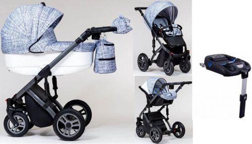 Wózek dzieciecy 4w1 Euforia głęboko-spacerowy + fotelik Kite 0-13 + baza isofix, Paradise Baby